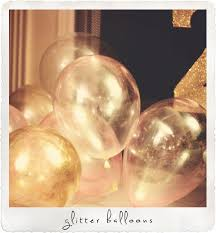 glitter balloons for 2nd birthday party made from clear balloons and superfine gold glitter