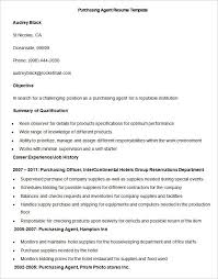 Sample Purchasing Agent Resume Template Write Your Resume Much