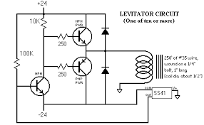 maglev magnetic levitation circuit schematic schematic hall sensor drives npn which drives power stage which drives coil which affects