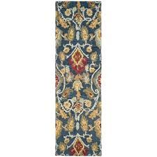 safavieh wool rug blossom 8 x hand hooked in navy shedding safavieh wool rug