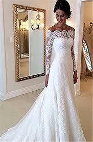 arrowder vintage long sleeves beteau lace mermaid wedding dresses