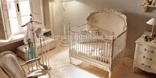 royal new born baby bed antique high quality wooden cradle bed european style