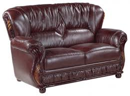 mina bonded leather loveseat burdy for