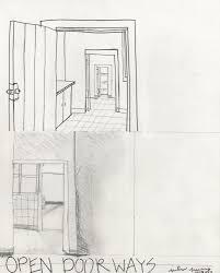 open door drawing perspective. Attractive Open Door Drawing With Beautiful Perspective Figure Out The Way Opens W