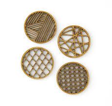 Geo <b>Bamboo</b> Coasters (<b>Set of 4</b>) | Light + Paper