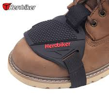 free 1pcs herobiker motorcycle motorbike shifter cover sock shine leather boot shoe cover protector