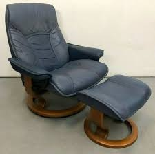 ekornes stressless consul modern leather recliner chair small nice condition for