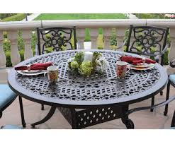 kingston cast aluminum 7 piece set with round table