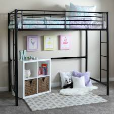 Black Metal Twin Loft Bed - Free Shipping Today - Overstock.com - 12579895