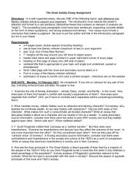 essay assignment for the great gatsby the great gatsby essay prompts