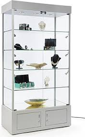 silver display case