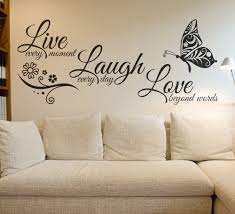 Live Laugh Love Quotes Live Laugh Love Butterfly Flower Wall Art Sticker Modern Wall Decals 31