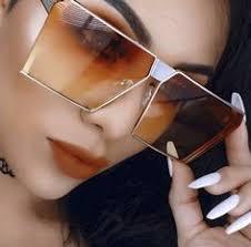 <b>TAOTAOQI Sunglasses Women</b> Square Rimless Diamond cutting ...