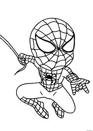 Coloriage Mini Spider Man 2017 Figurine Dessin