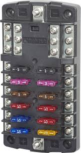 st blade fuse block 12 circuits negative bus blue sea systems product image