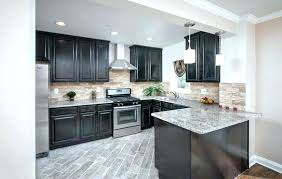 kitchen floor tiles with light cabinets. Unique Kitchen Dark Cabinets Light Floors Kitchens With Contemporary J  Shaped Kitchen For Kitchen Floor Tiles With Light Cabinets