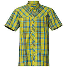Bergans Marstein Short Sleeve Shirt Lime Light Sea Blue