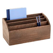 Feathergrain Wooden Desktop Organizer ...