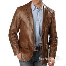 details about gent lace leather suit blazer men patch pocket 2 on lapel 1 back jacket