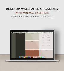 Desktop wallpaper organizer with 2021 ...