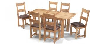 Constance Oak 140 180 Cm Extending Dining Table And 6 Chairs
