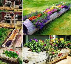 view in gallery turn an old log into a fantastic garden planter diy old log flower planters for a