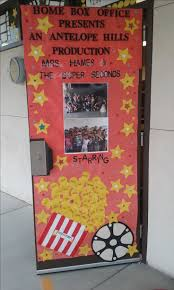 office door decorations. school goals teacher doors office decorations pep rally hollywood theme room mom classroom themes box projects door o