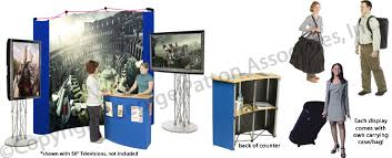 Tv Display Stand For Trade Shows Stunning This TV Stand Has A Trade Show Counter With Inner Shelves For