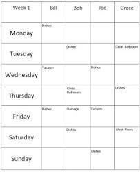 Roommate Chore List Template Creator Diy Landlord Forms