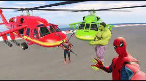 Siêu Nhân Nhện Bắn Súng - Siêu Nhân Lái Máy Bay Trực Thăng - Spider Man and  Hubschrauber - YouTube