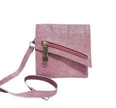 fuchsia stingray leather wallet