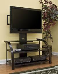Flat Screen Tv Console Open Shelves Black Tone Flat Screen Tv Cabinet Combined Yellow