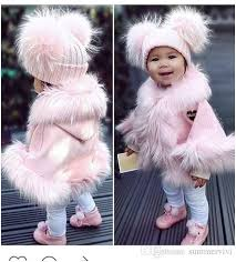 toddler real fur coats beautiful pictures ins children fur cloak cute girls plush pure color cape
