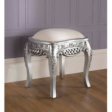 Silver Shabby Chic Bedroom Furniture La Rochelle Silver Antique French Stool Wonders Complimented With
