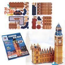 Bộ đồ chơi xếp hình 3D kiểu tháp đồng hồ Big Ben cho trẻ em