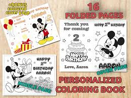 Mickey Mouse Birthday Coloring BOOK ...