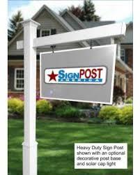 Decorative Sign Posts Real Estate Sign Posts Vinyl Yard Sign Posts SignPOST America 51