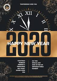 New Year Flyers Template New Year Flyer Template V10 Gold Posters Design For Photoshop