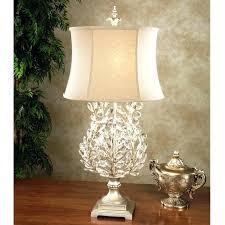 pottery barn crystal lamp crystal table