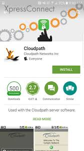 how to set up an android device on the stanford secure wireless when the cloudpath app displays tap install