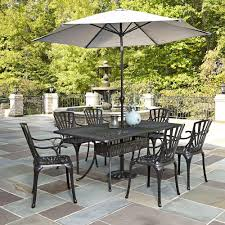 outdoor patio dining set with umbrella. home styles largo 7-piece outdoor patio dining set with umbrella depot