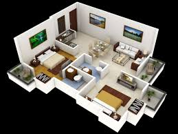 Small One Bedroom Homes Two Bedroom Home Plans With Office Home Design Two Bedroom Plans