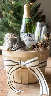 this holiday season put together a sparkling gift basket for your friends
