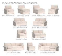 build your own pb basic slipcovered sectional components pottery barn