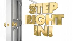 open door welcome. Modren Welcome Step Right In Welcome Invitation Open Door Words 3d Animation And L