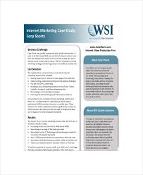 marketing case study templates sample example format  internet marketing case study sample template