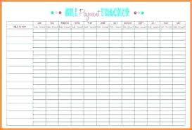 Bill Tracker Template Excel Monthly Bill Tracker Template