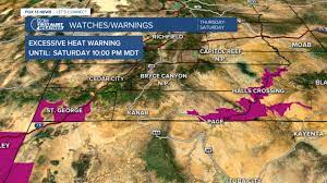 Excessive Heat Warning issued for parts ...
