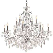 metropolitan n8008 12 light 2 tier candle style crystal chandelier