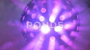Spinning Colored Light Ball Disco Ball Smoke Multi Colored With Smoke Fast Spinning